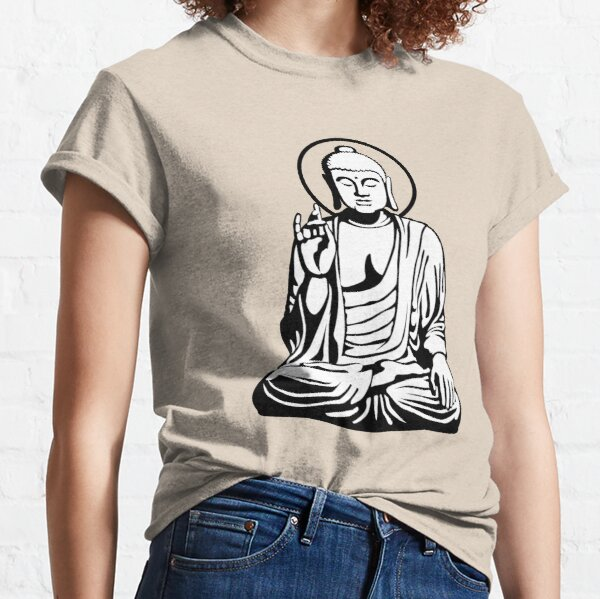 Young Buddha (black white) Classic T-Shirt