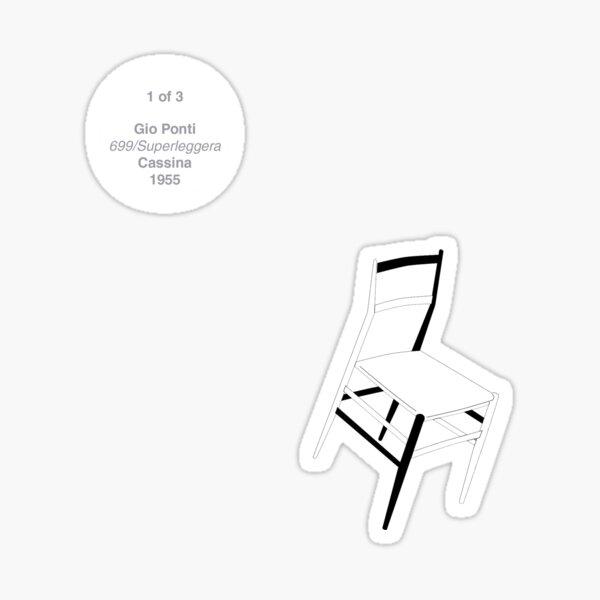 GioPonti_Superleggera_1/3 Sticker