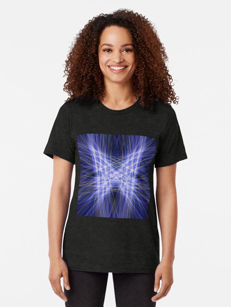 Alternate view of Laser Butterfly Tri-blend T-Shirt