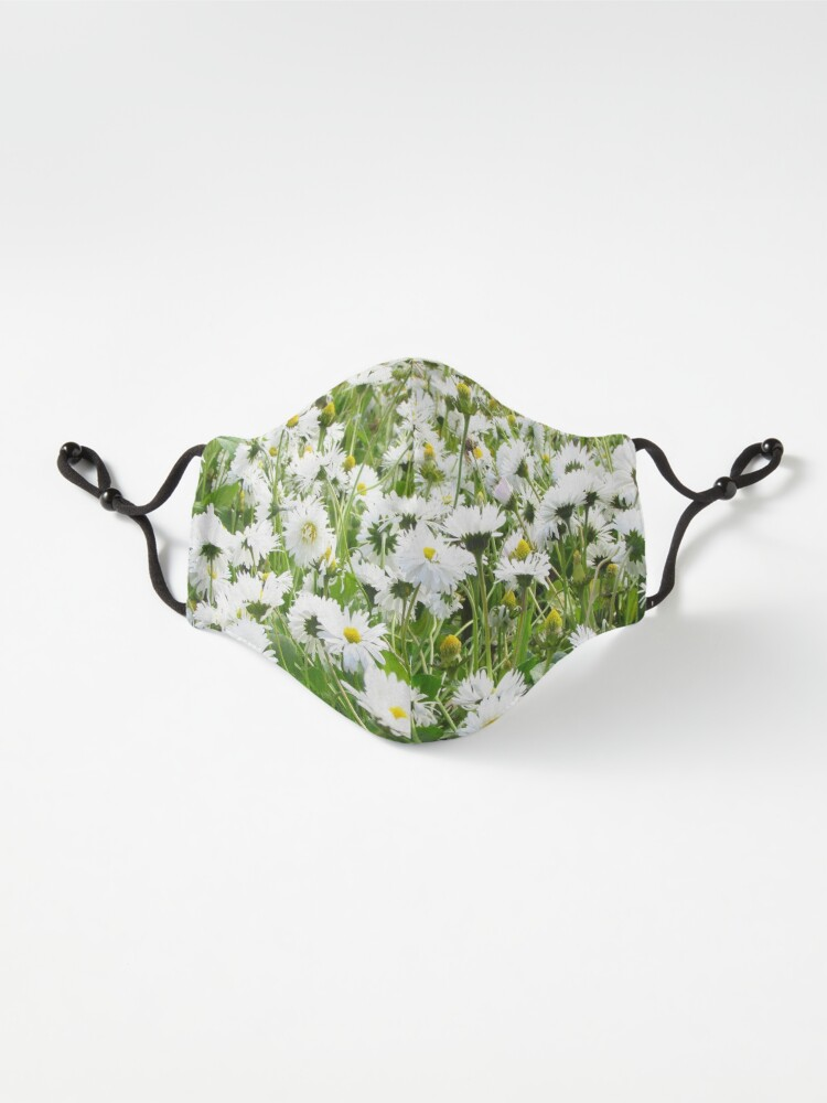 Alternate view of Ask me about my plants. Chamomile field Spring time Mask
