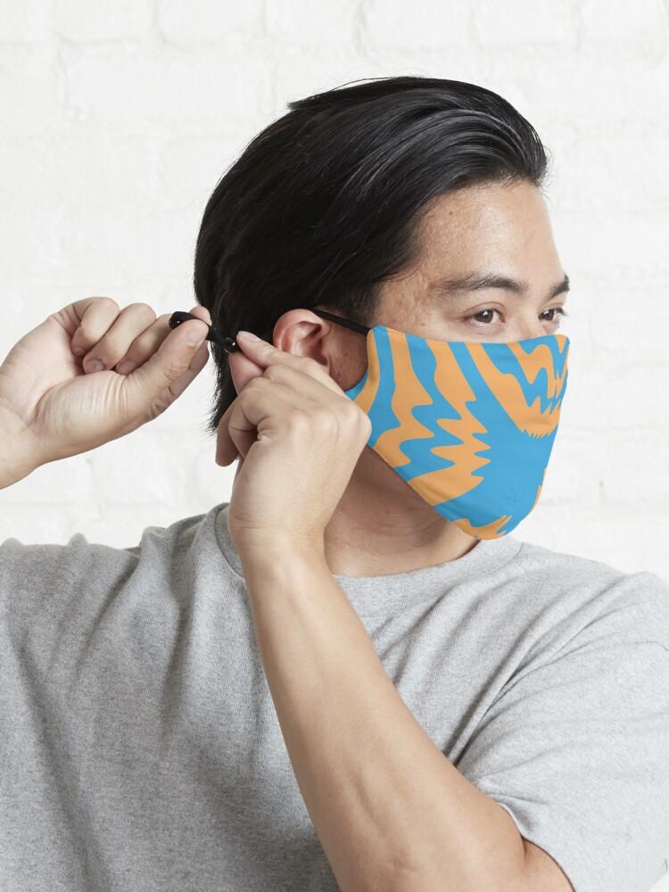 Alternate view of Tribal, zebra pattern Mask