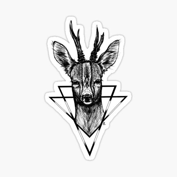 Rehbock - Sanfter Krieger Sticker