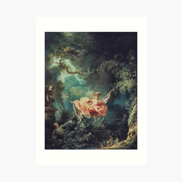 Jean-Honoré Fragonard - The Swing (L'Escarpolette) (1767) Art Print