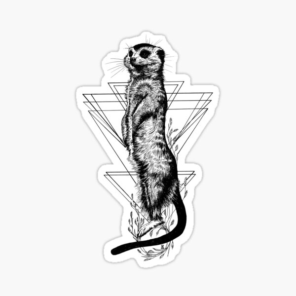 Erdmännchen - kleiner Wächter Sticker