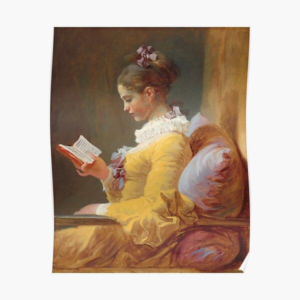 Jean-Honoré Fragonard - A Young Girl Reading (La Liseuse) 1770 Poster