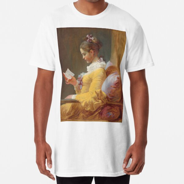 Jean-Honoré Fragonard - A Young Girl Reading (La Liseuse) 1770 Long T-Shirt