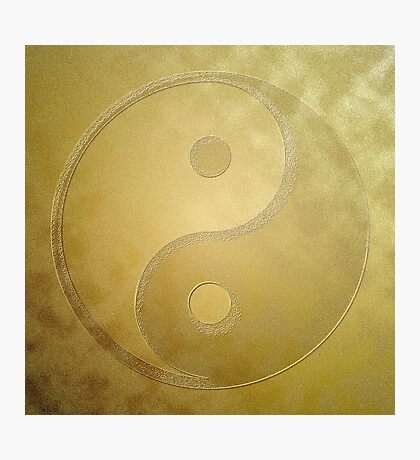 Yin and yang with gold dust Photographic Print