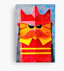 Cat Fireman Canvas Print