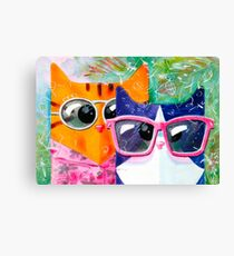 Cats on the beach Canvas Print