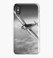 Silver Spitfire PRMk XIX PS852 black and white version iPhone Case