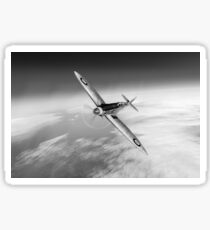Silver Spitfire PRMk XIX PS852 black and white version Sticker