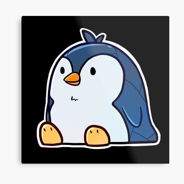Chill Penguin Metal Print