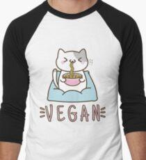 Vegane Ramen Baseballshirt mit 3/4-Arm