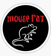 Mouse Rat Circle Sticker
