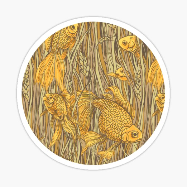 Goldfishes in the rye Sticker