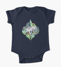 Little Elephant on a Jungle Adventure – faded vintage version One Piece - Short Sleeve