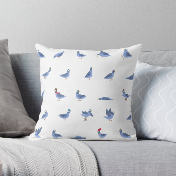 Pigeon Party Throw Pillow
