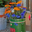 Tins Of Flowers by phil decocco