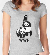 WWF Parody Panda Women's Fitted Scoop T-Shirt