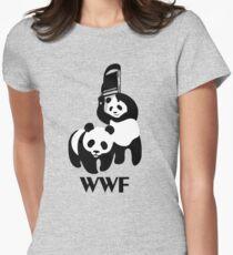 WWF Parody Panda Womens Fitted T-Shirt