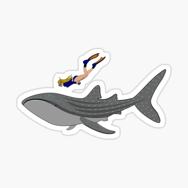 Swimming with Whaleshark Sticker
