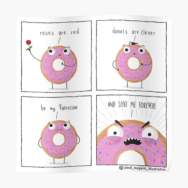 Donuts are Clever Poster