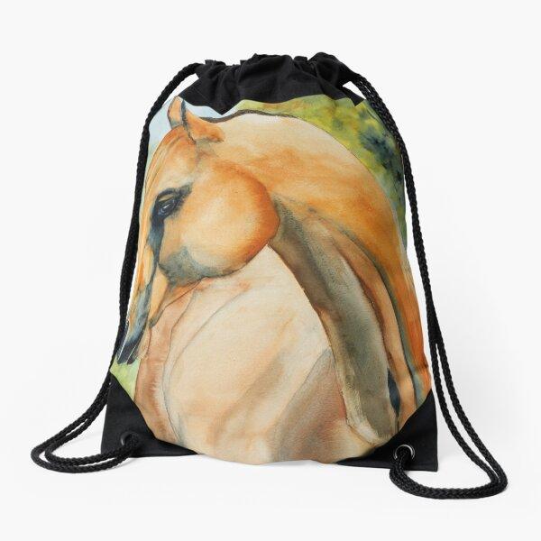 Akhal Teke Horse Drawstring Bag