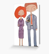 scully & mulder Greeting Card