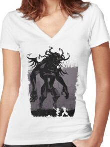 Shadow of the Heartless: Redux Women's Fitted V-Neck T-Shirt