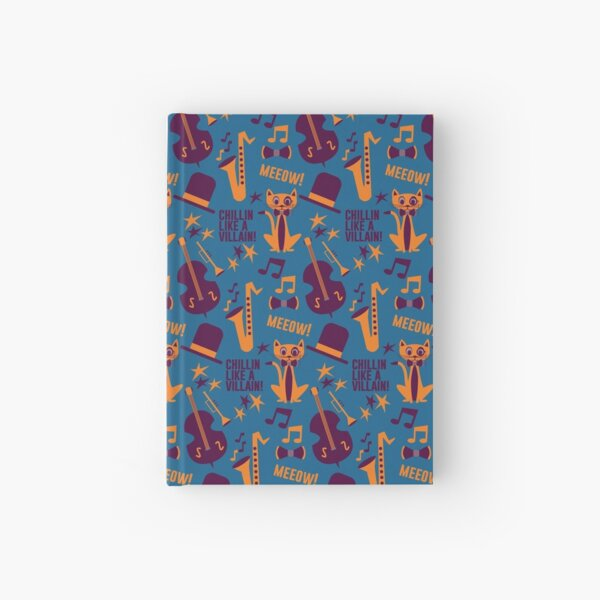 Cool Cat Pattern by Holly Shropshire Hardcover Journal