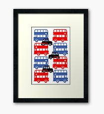 London Buses and Autos Framed Print