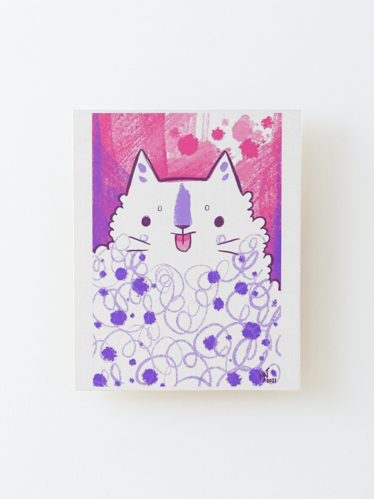 Alternate view of Blep Expressive Kitty  Mounted Print
