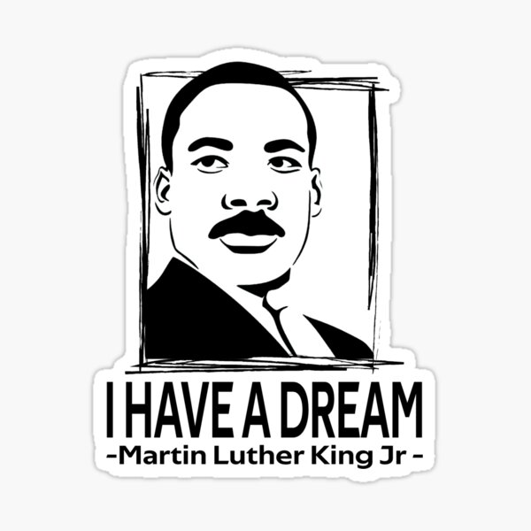 quotes by martin luther king jr Sticker