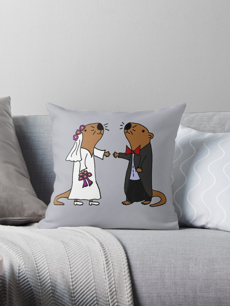 Cool Funny Otters Getting Married by naturesfancy