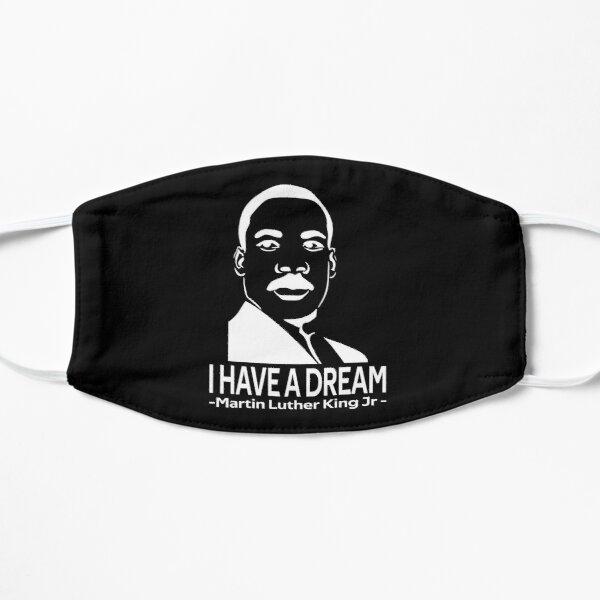 quotes by martin luther king jr Flat Mask