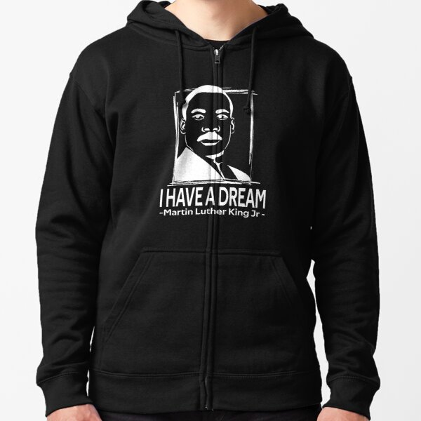quotes by martin luther king jr Zipped Hoodie