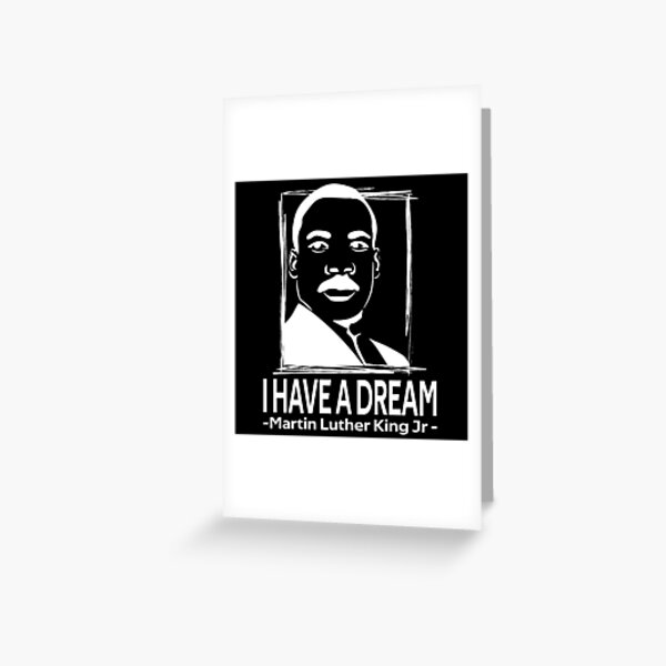 quotes by martin luther king jr Greeting Card