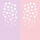 Cascading Stars - Glitter + Gradient by starlightslk
