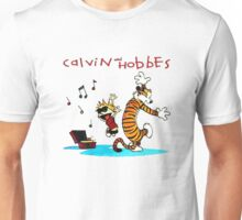 Calvin And Hobbes Dancing Unisex T-Shirt