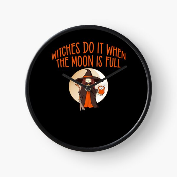 Full Moon Cheeky Witch® Clock