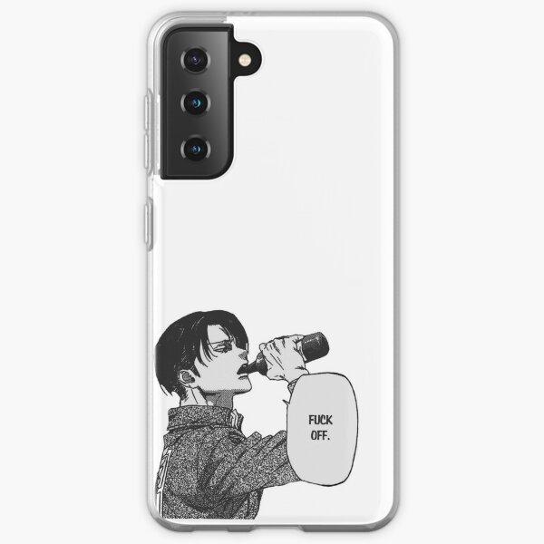 """Captain Levi """"Fuck off"""" Attack on titan  Samsung Galaxy Soft Case"""