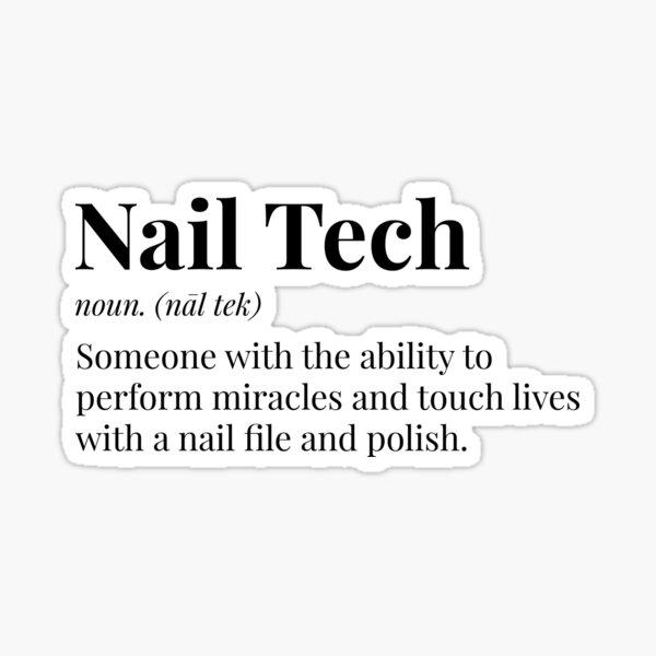 Nail Tech Definition Sticker