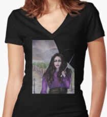 A Witch's Summer Women's Fitted V-Neck T-Shirt