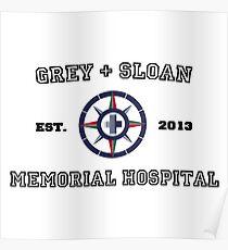 Grey + Sloan White Poster