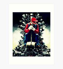 Super Mario's game of thrones Art Print