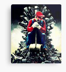 Super Mario's game of thrones Metal Print