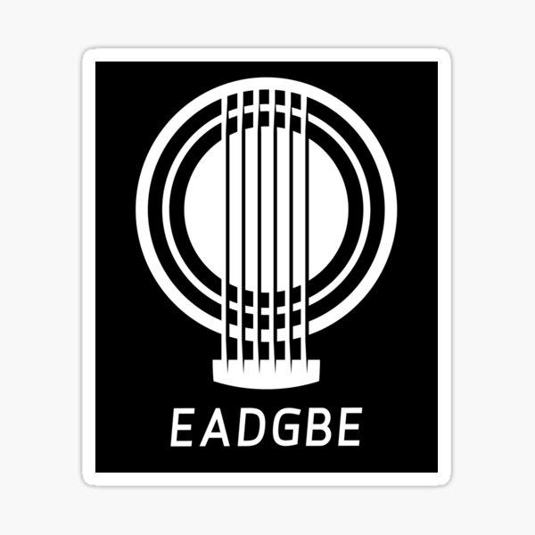 EADGBE Guitar Tuning Design Sticker