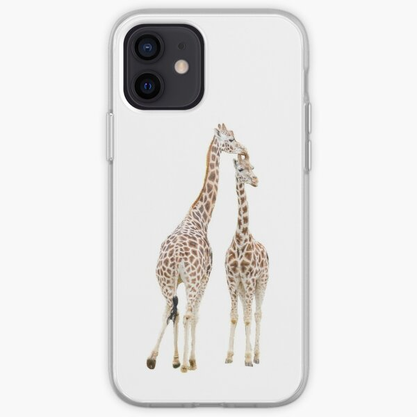 Two giraffes iPhone Soft Case