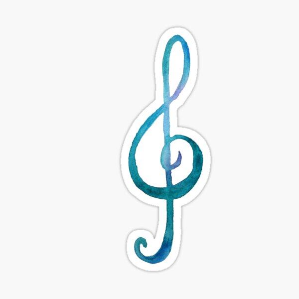 Treble-clef white Sticker