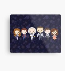 BTTF CutiEs Metal Print
